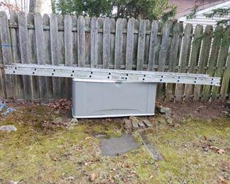 ladder and storage bin