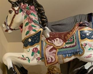 Hand painted Carousel Horse 3/3 Decorative.