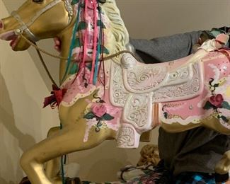 Hand painted Carousel Horse 2/3 Decorative.