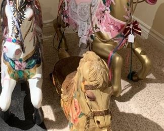 Decorative Carousel Horses.