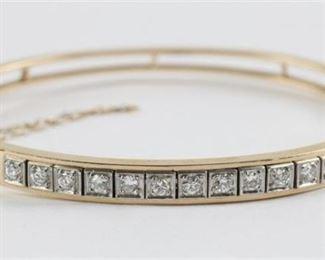 6. 14K GOLD 0.96 CARAT DIAMOND BRACELET
