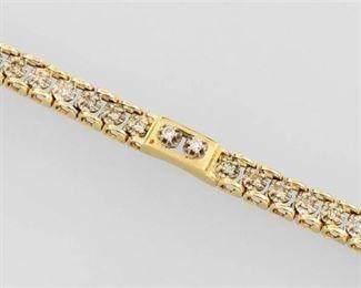11. 14k Gold 1.64 ct Diamond Bracelet