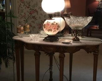 marble top foyer table,