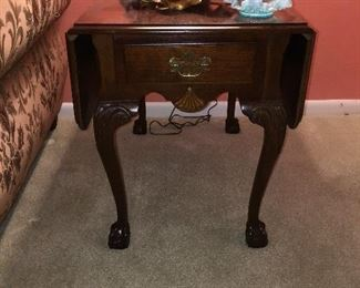 one of a pair of drop leaf side table