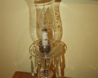 VINTAGE CRYSTAL TEAR DROP LAMPS ~ PAIR  $60