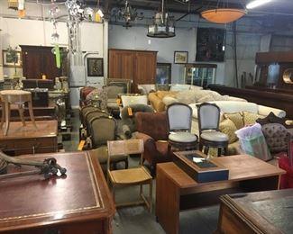 Tables, chairs, sofas, desks, armoires...