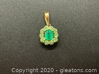 Emerald & Green Tourmaline Pendant