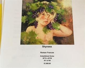 "Roman Frances ""shyness"""