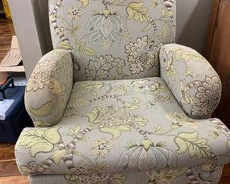 Three matching upholstered chairs
