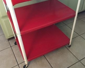 Cute Mid Century metal kitchen cart. Great condition