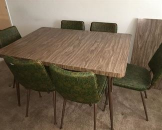 Vintage dining set with six chairs. All in excellent condition