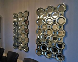 Mirrored wall sculptures
