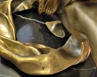 """Jerry Joslin signed and numbered bronze statue, """"Windswept"""""""