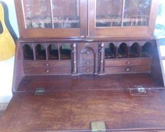 Interior of 1790's secretary.