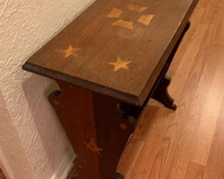 inlaid Shriner emblem table