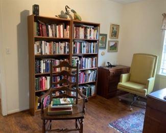 BOOKS AND BOOKCASE