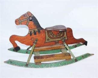 1930s Child's Horse Rocker by Mengel Playthings