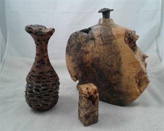 002 Burl Wood Decorative Pieces