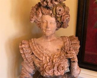 Antique 5' statue of a lady from an antique store in New Orleans.