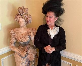 """For those of you that know Sara, she's a great comparison. Both ladies stand proudly at approximately 5' tall on a good day. For the statue, the hat helps her verticals handicap about 6-8""""."""