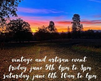Vintage Barn Sale and Artisan Event in Southern Oregon.