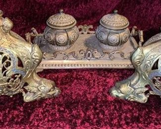 Inkwell $85  Bronze Stands  $250
