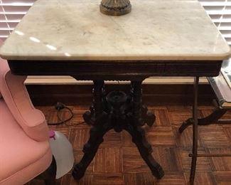 Antique mahogany marble top