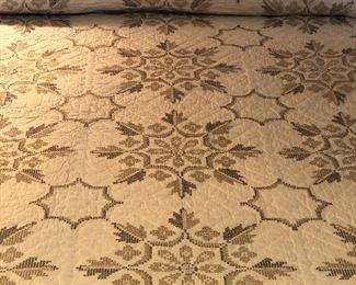 Antique hand stitched Anniversary quilt