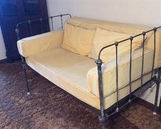 Antique iron children's bed