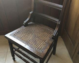 Mahogany cane bottom chair