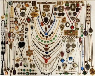 3000+ pieces of vintage and antique jewelry - this is a small sample!