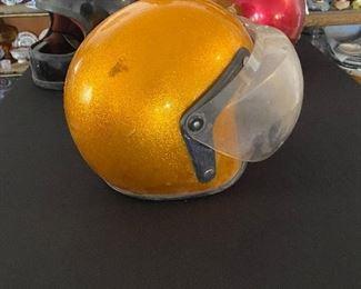 Vintage Protech gold speckled helmet