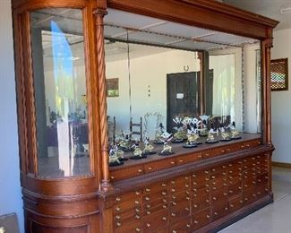 "1901 Optometrists Cabinet from St Paul Minnesota. The craftsman signed the back. It is HUGE and Gorgeous  at a Fantastic  Price!! 12' W x 8.5' T  x 28"" D  $4500"