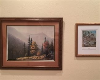 Art Sunrise in the Smokies print by Mark Pettit and Pintail Majestic print by Harold Roe