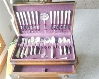 12 place silver plate set