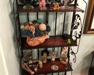 Knick knacks and such thru out the home Shelf is $35