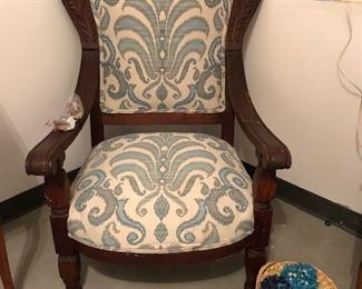 Gorgeous early 1900's antique chair. Beautifully carved and comfortable!