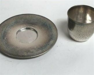 https://www.ebay.com/itm/124082616330 SM3032: CUP AND SAUCER SILVER OR SILVERPLATE? ENGRAVED JMB