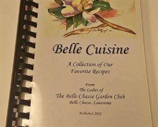 AB0222 BELLE CUISINE COOKBOOK A COLLECTION OF OUR FAVORITE RECIPES . FROM THE LADIES OF THE BELLE CHASSE GARDEN CLUB LOUISIANA $10.00 BOX 76 	Pay online by Venmo: @Rafael-Monzon-1, PayPal Email: Agesagoestatesales@Gmail.com, or Square Call for info 504-430-0909