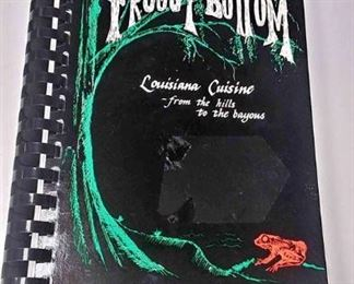 AB0221 FROGGY BOTTOM COOKBOOK LOUISIANA CUISINE FROM THE HILLS TO THE BAYOUS $10.00 BOX 76 	Pay online by Venmo: @Rafael-Monzon-1, PayPal Email: Agesagoestatesales@Gmail.com, or Square Call for info 504-430-0909