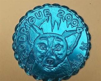 NNS012 BLUE DOG RODRIUE 2004 ARGUS ALUMINIUM MARDI-GRAS THROWS $3.00	Pay online by Venmo: @Rafael-Monzon-1, PayPal Email: Agesagoestatesales@Gmail.com, or Square Call for info 504-430-0909