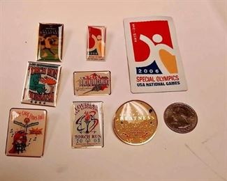 https://www.ebay.com/itm/124143283700AB0001 SPECIAL OLYMPICS PIN & PATCH LOT FROM LOUISIANA & NATIONAL BOX74 $10