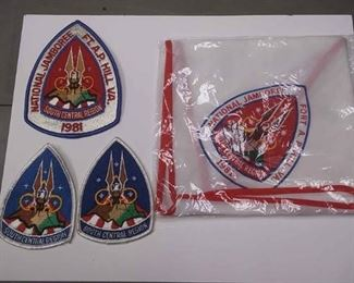 $15 https://www.ebay.com/itm/114197537465AB0277 VINTAGE LOT OF BOY SCOUTS OF AMERICA PATCHES & SCARF  1981 NATIONAL JAMBOREE SOUTH CENTRAL REGION BOX 70 AB0277 $15