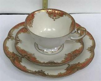 https://www.ebay.com/itm/123952007898AH3010: Henseler Bavaria Cup and Saucer w/ Salad Plate Fine China Rust  $10