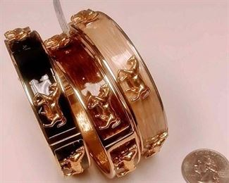 https://www.ebay.com/itm/114174500772BOX074AM COSTUME JEWELRY SET OF THREE METAL BANGLE BRACELETS . GOLD TONED  $10