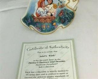 "https://www.ebay.com/itm/124164059447BR025: Disney ""Ariel's Wish"" Bradford Exchange Editions Figurine 11th Issue 6"" $40"