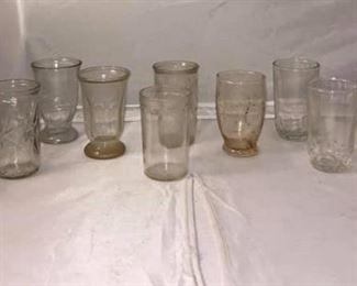 https://www.ebay.com/itm/124158720676Br9005: Vintage Jam Jar Juice Glass Assortment  $25