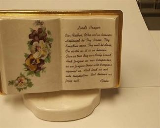 BR4162007 VINTAGE CERAMIC PEN HOLDER WITH LORD'S PRAYER ON FRONT $10.00 BOX 75 5 Pay online by Venmo: @Rafael-Monzon-1, PayPal Email: Agesagoestatesales@Gmail.com, or Square Call for info 504-430-0909
