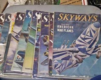 https://www.ebay.com/itm/114171668541CC0001 1940S WW2 ERA SKYWAYS AVIATION MAGAZINES  $70