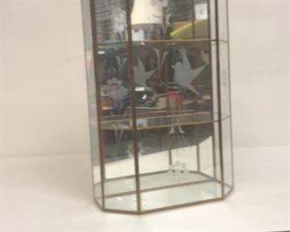 https://www.ebay.com/itm/124142943488Cma2015: Glass Wall mounted Curio Cabinet w/ Laser Etched Pattern  $35